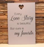 DDVM Tekstbord Love Story