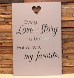 DDVM tekstbord every love story
