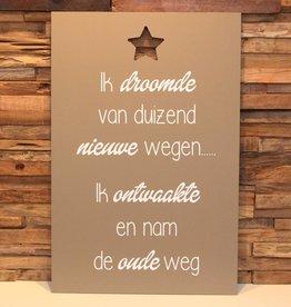 DDVM Tekstbord Nieuwe Wegen