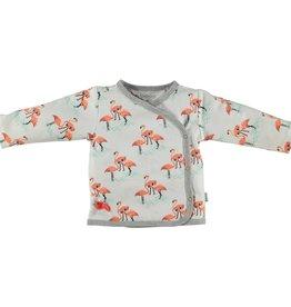 BESS Shirt Girls AOP Flamingo