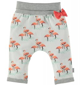 BESS Jersey Pants Girls AOP Flamingo