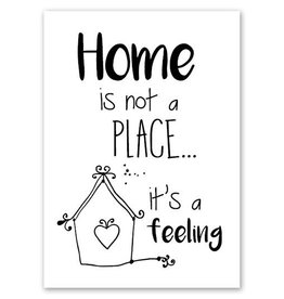 Jots Kaart A5 Home Is Not A Place