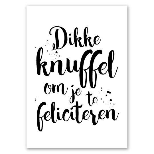 Fabulous Jots Kaart A5 Dikke Knuffel - De dochter van Mies &ZG65