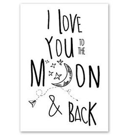 Jots Kaart A6 Love You To The Moon
