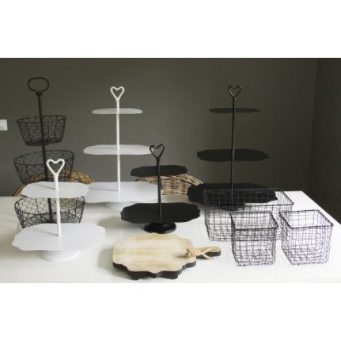 Bastion Collections Etagere 3 Laags Mat Zwart