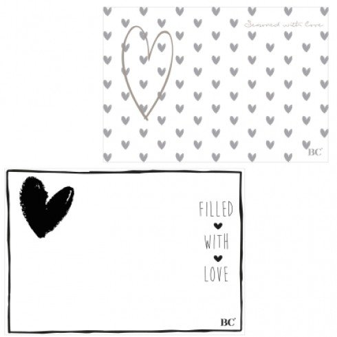 Bastion Collections Papieren Placemat Filled With Love 50 stuks