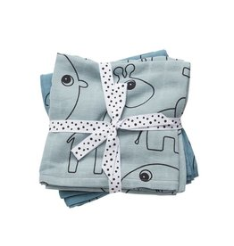 Done By Deer Hyrofiele Doek 2-Pack 70x70 Blauw