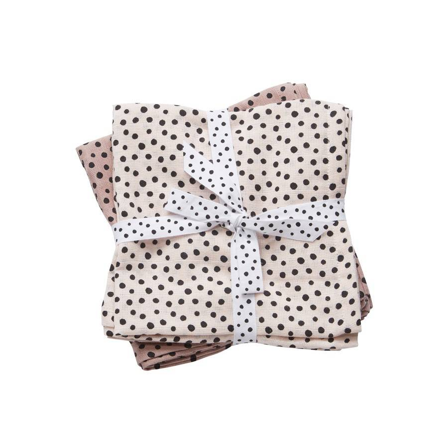 Done By Deer Hydrofiele Doek Happy Dots 2-Pack Powder