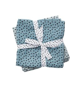 Done By Deer Hydrofiele Doek Happy Dots 2-Pack Blauw