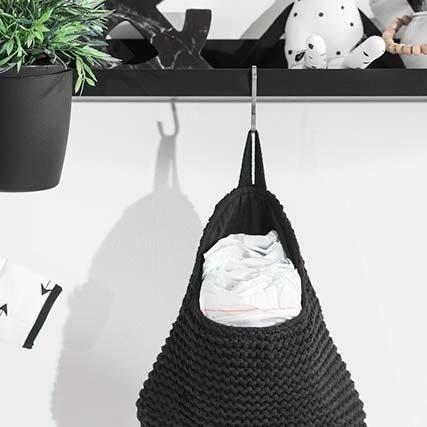 Jollein Wandzakje Heavy Knit Zwart