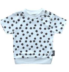 Kidooz Shirt Wit Met Zwarte Stippen