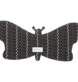 Baby Anne-Cy Spuugdoekje Vlinderkabel Donkergrijs