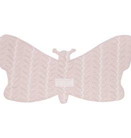 Baby Anne-Cy Spuugdoekje Vlinderkabel Oud Roze