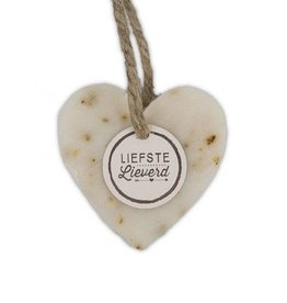 100% Leuk Zeep Hart Wit 'Liefste Lieverd'