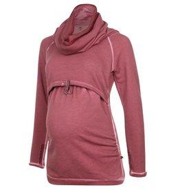 Love2Wait Sweater Nursing Burgundy Mt. S
