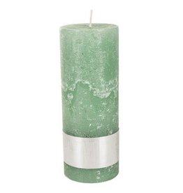 PTMD Kaars Rustic Green 7x18cm