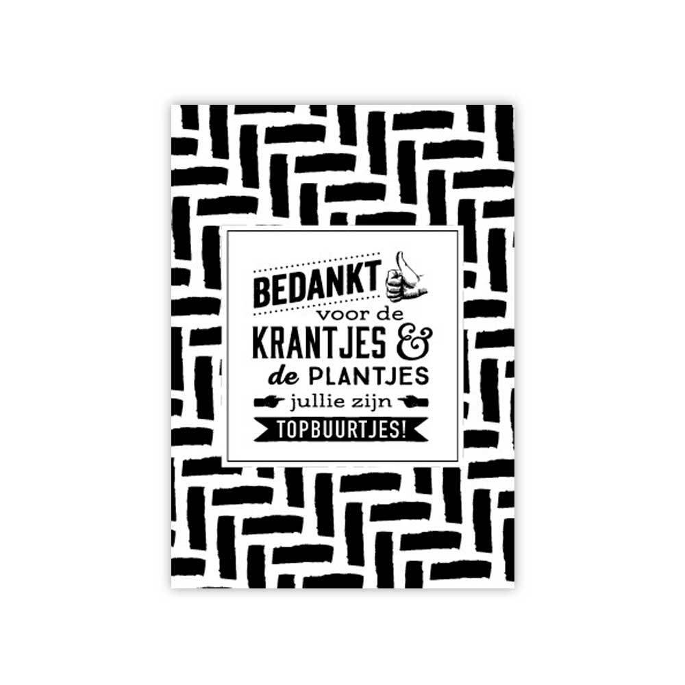 100% Leuk Kaart Bedankt Krantjes & Plantjes