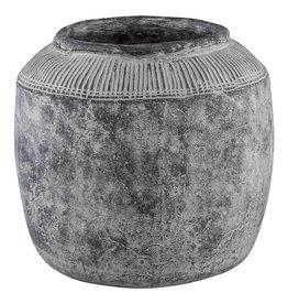 PTMD Pot Nuo Grijs Cement Met Rand XL