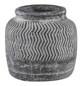 PTMD Pot Nuo Grijs Cement Met Rand M