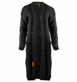Zusss Stoer Gebreid Vest Off Black