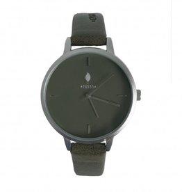 Zusss Hip Horloge Mat Zilver Groen