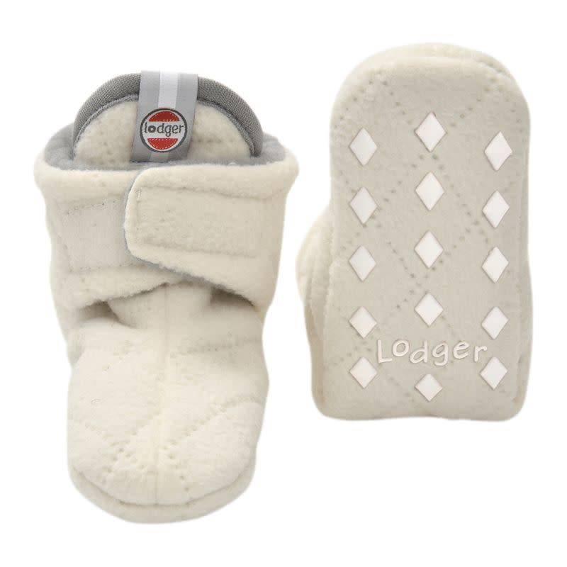 Lodger Slofjes Fleece Off-White 0-3 mnd