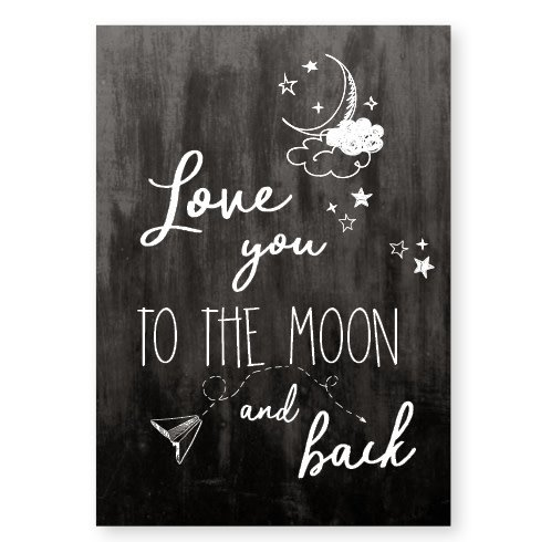 Jots Kaart A5 Love You To The Moon And Back