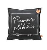 100% Leuk Kussen Papa's Plekkie Antraciet