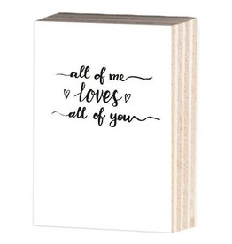 Jots Fotoblok A6 All Of Me Loves All Of You