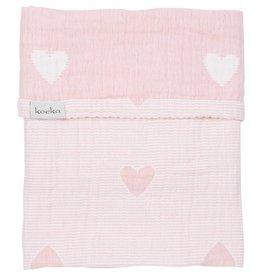 Koeka Wiegdeken Altea Hearts Water Pink