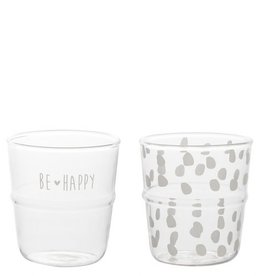 Bastion Collections Waterglas Be Happy