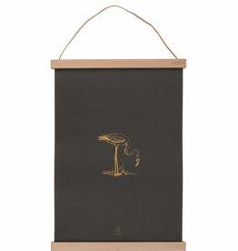 Zusss A3 Poster Van Papier Flamingo Off Black