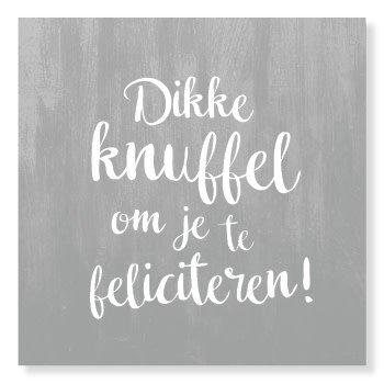Genoeg Kaart Dikke Knuffel Om Je Te Feliciteren - De dochter van Mies @VL85