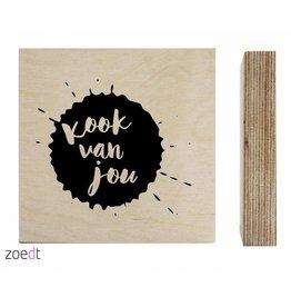 Zoedt Houtprint Kook Van Jou