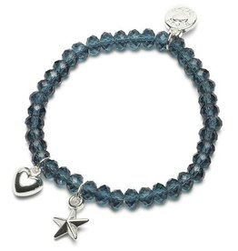 Armband Charm Ster/Hart (Blauw)