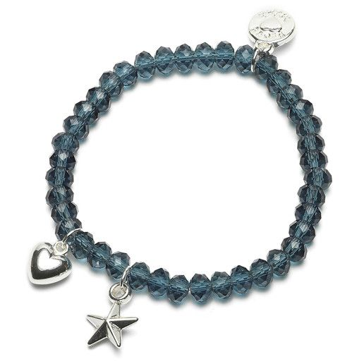 Armband Charm Ster/Hart (Blauw)