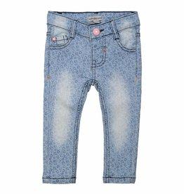 Spijkerbroek met Luipaardprint