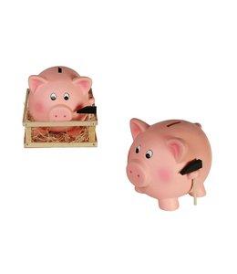 Terracotta savings box, Jumbo Pig with Hammer