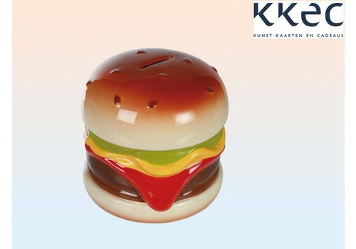 Ceramic savings bank with lock, Hamburger