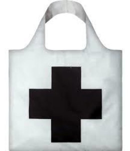 LOQI Tote Museum Col. - Black Cross