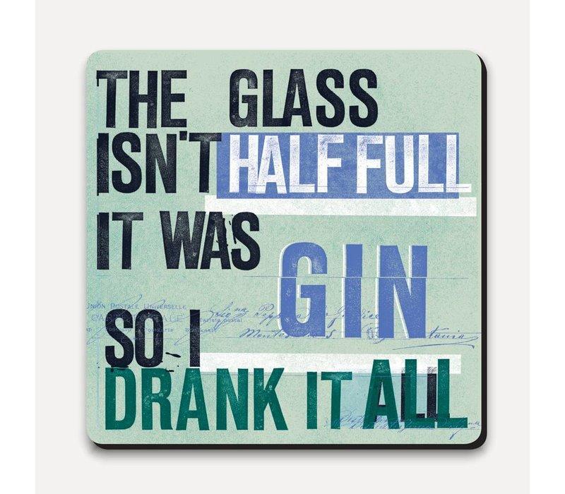 Scrawl Coaster - Gin Half Full