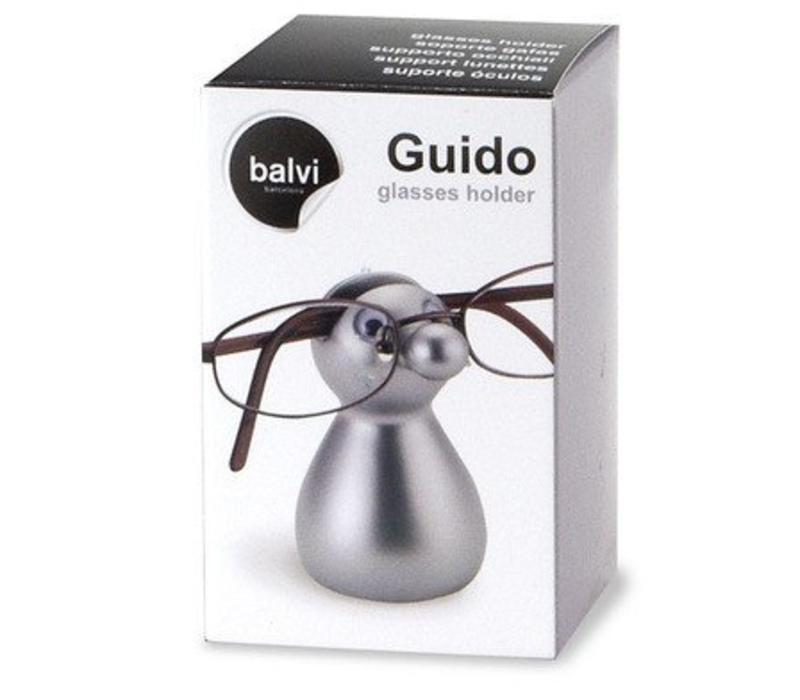 Glasses holder,Guido,silver,plastic