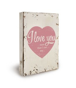 Houten Deco - I love you