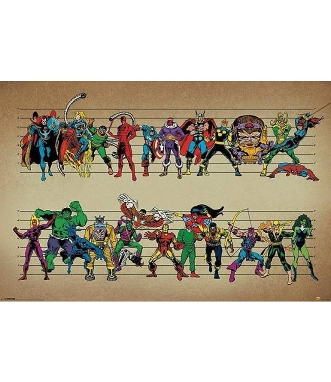 MARVEL COMICS LINE UP