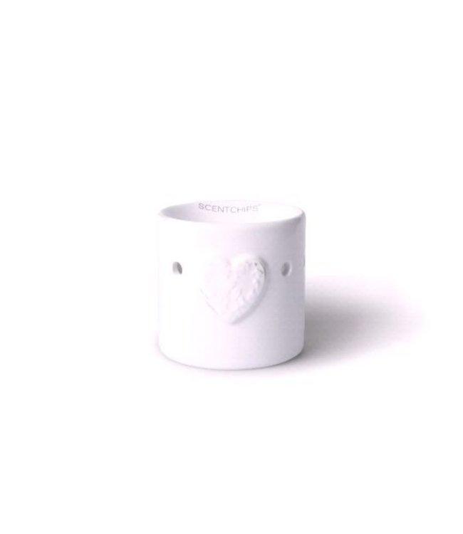 Heart Burner 8.5x9cm White