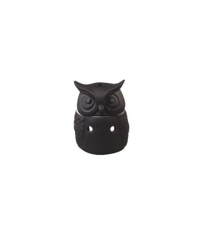 Owl Burner Black 12x15cm