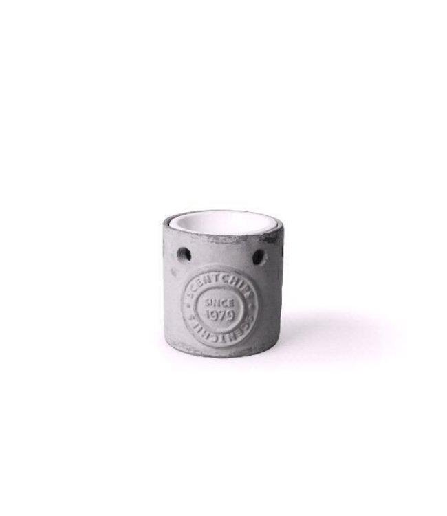 Concrete Burner With Ceramic White 10x10x10
