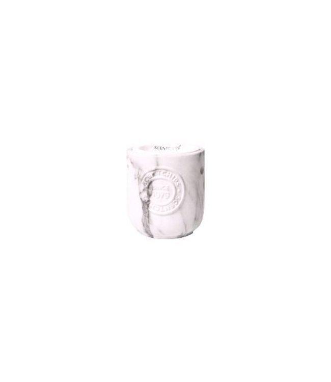 Ceramic Burner Round Marbled 10x10x10,5cm