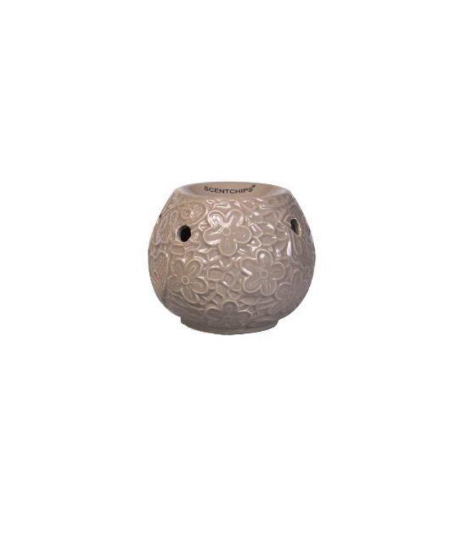 Ceramic Burner Leafs Pink 11,5x11,5x10cm