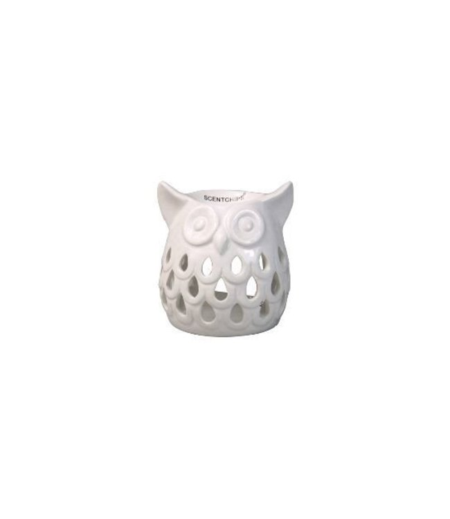 Burner Owl Cut Out White 11,5x10,5x11,5cm